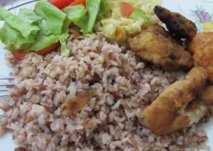 Propriedades úteis do arroz integral, Utilização do arroz, Receita de arroz integral