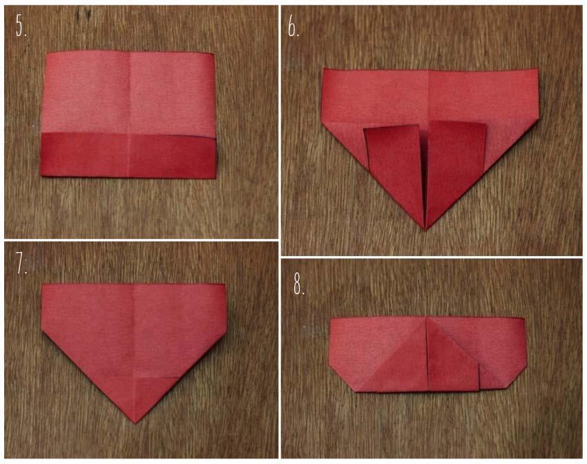 coração de origami