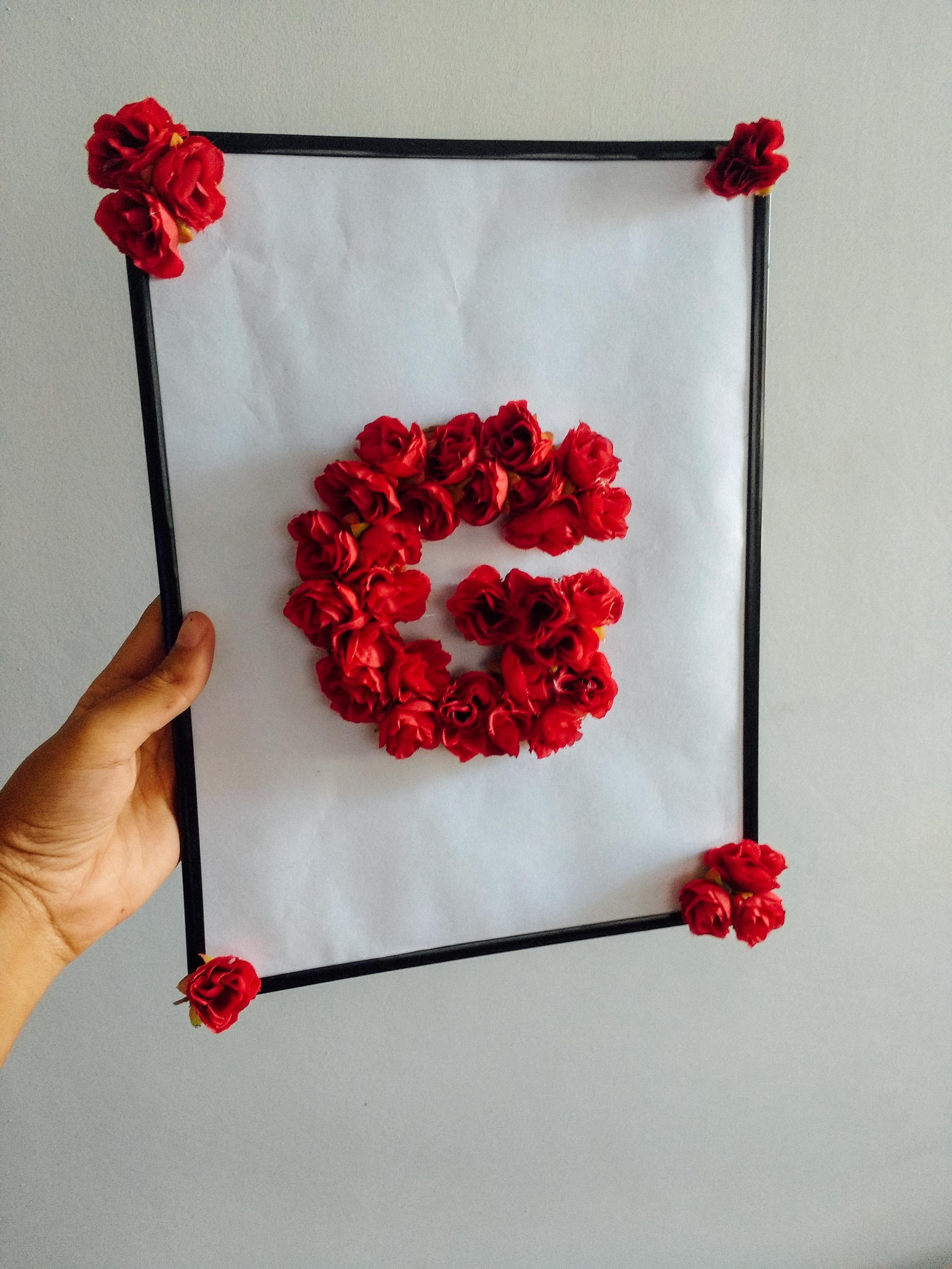 Quadro Decorativo Com Letra De Flores Portal De Forma O E  ~ Imagens Para Quadros De Quarto Para Imprimir Abacaxi